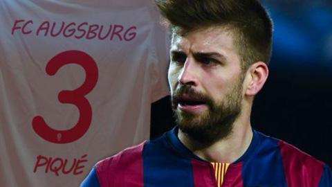 CLB Augsburg công bố bản hợp đồng với Pique