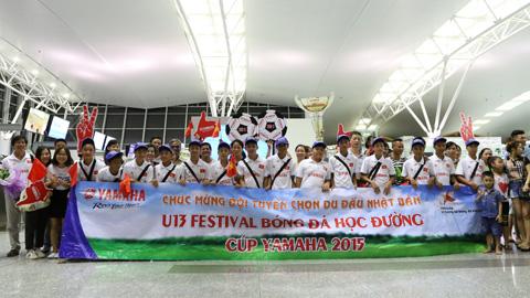 U13 Bóng đá học đường Yamaha 2015 đã tới Nhật Bản