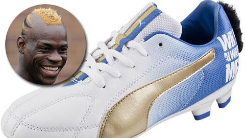Choáng với mẫu giày theo phong cách Mohican của Balotelli
