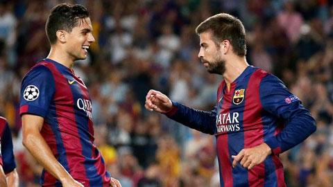 Đội hình của Barca ở trận khai màn La Liga: Bartra thay Pique
