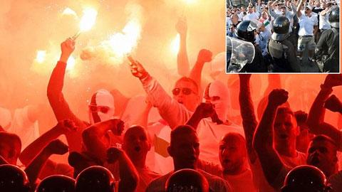 Màn bạo loạn ở trận Zorya gặp Legia Warsaw