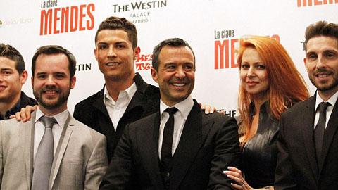 16 cầu thủ ở trận Monaco - Valencia nằm dưới sự quản lý của 'siêu cò' Mendes