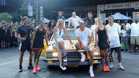 Sharapova và Nadal thách đấu Federer trên đường phố