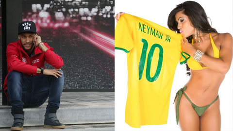 Neymar giữa vòng vây của các bóng hồng