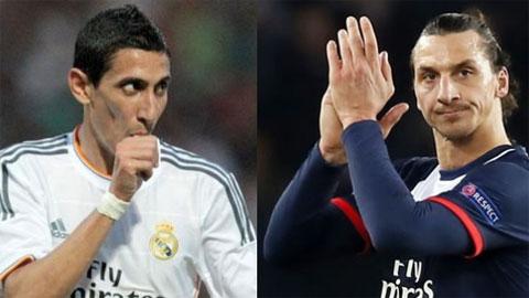 Di Maria & Ibrahimovic trở lại đội hình PSG: Chờ hàng công khởi sắc