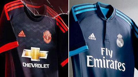 M.U và Real cùng ra mắt áo đấu sân khách tại Champions League