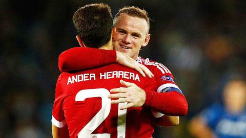 Chấm điểm M.U sau trận thắng Brugge 4-0: Điểm 10 hoàn hảo cho Rooney