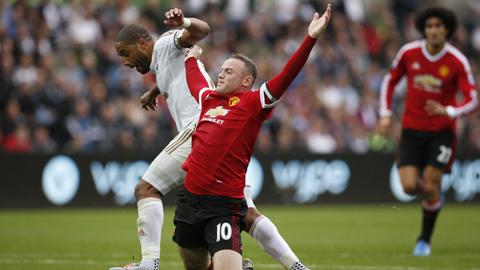 Chấm điểm cầu thủ M.U trong trận thua Swansea: Rooney điểm 4/10