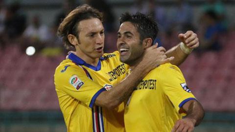 Sampdoria hòa 2-2 trên sân Napoli: Eder chói sáng