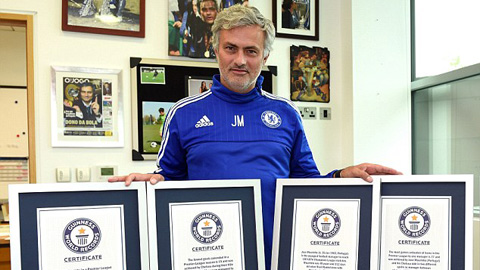 HLV Mourinho vinh dự nhận 4 kỷ lục Guinness