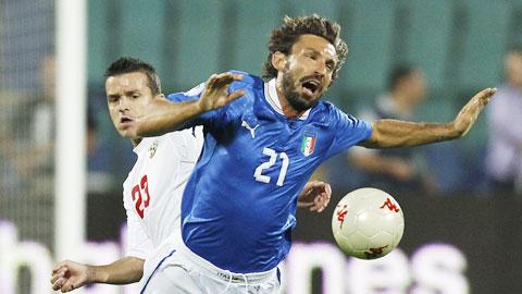 Italia cần xem lại vai trò của Pirlo