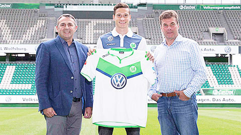 Tại Wolfsburg, Draxler sẽ đá ở đâu?
