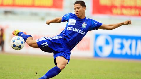 Tiền đạo Anh Đức (B.BD) giành danh hiệu Cầu thủ xuất sắc nhất tháng 8