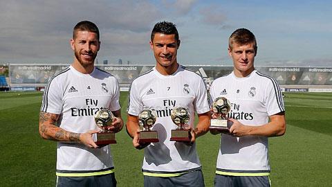 Real, Ronaldo và Kroos được IFFHS vinh danh