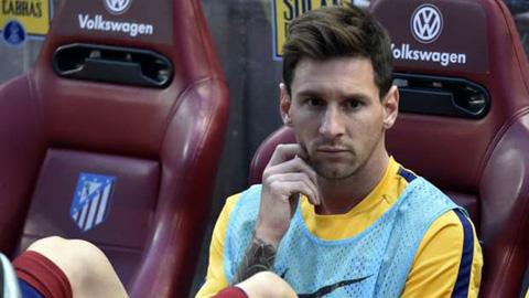 Messi không hề tức giận dù ngồi dự bị