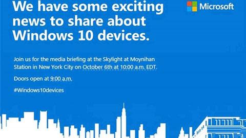 Microsoft xác nhận sẽ ra mắt Lumia 950, 950 XL và Surface Pro 4 vào ngày 6/10