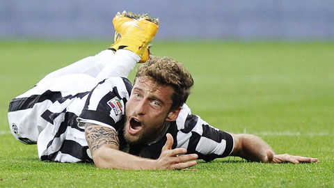 Juventus mất Marchisio 1 tháng