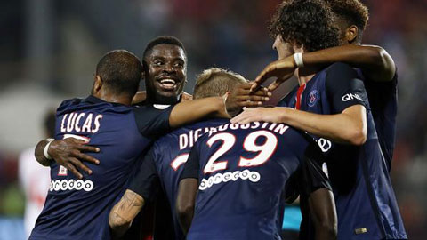 Vòng 6 Ligue 1: Cavani cứu PSG khỏi trận thua trước Reims