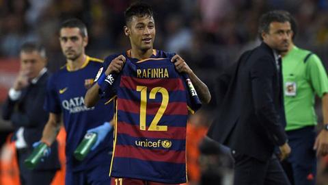 Neymar dành tặng bàn thắng cho Rafinha