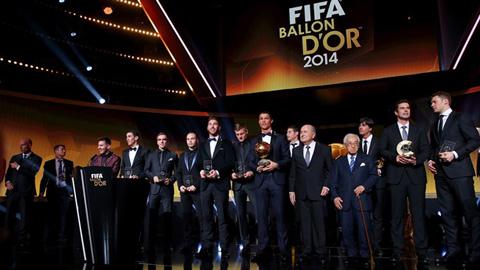 Ấn định thời gian trao giải Quả bóng Vàng FIFA 2015