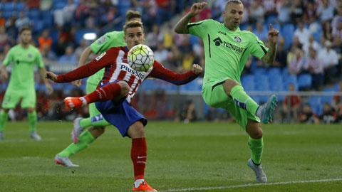 Atletico thắng trận thứ 3 liên tiếp: Xoay vòng đại pháo