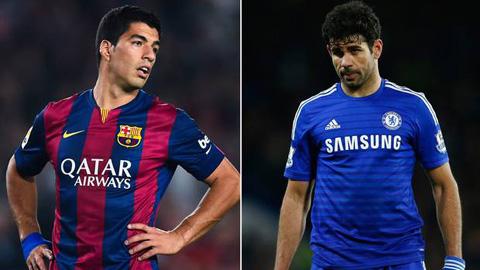 Diego Costa chơi xấu vẫn kém xa Suarez