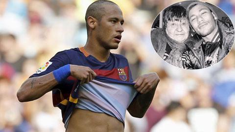 Neymar xuống tóc để động viên bà ngoại bị ung thư