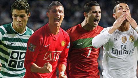 Nhìn lại kỳ tích 500 bàn thắng của Cris Ronaldo