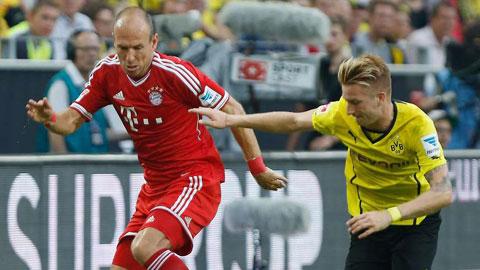 Đại chiến Bayern vs Dortmund: Dấu hỏi cho Reus và Robben