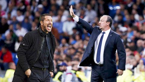 Simeone vs Benitez: So tài cân não ở derby Madrid