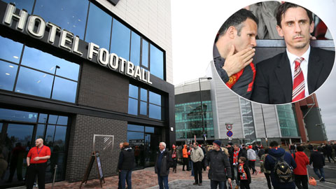 Giggs và Neville méo mặt vì Hotel Football thua lỗ