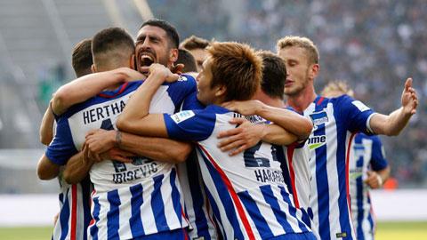 Vòng 8 Bundesliga: Hertha Berlin và M'gladbach thăng hoa, Wolfsburg tiếp đà sa sút