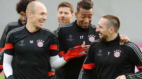 Bayern sắp đón Robben và Ribery trở lại