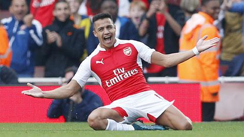 Sanchez lập cú đúp mừng tin gia hạn với Arsenal