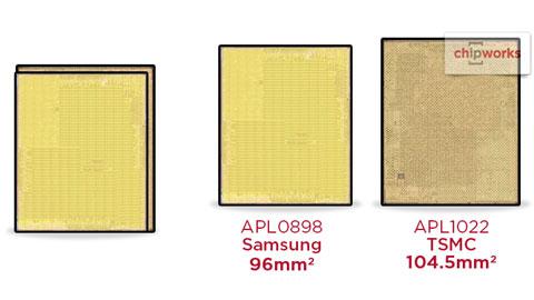 Nhận biết iPhone 6s dùng chip A9 của Samsung hay TSMC