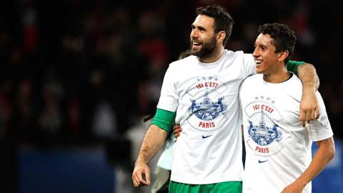 PSG mất hai trụ cột ở hàng thủ: Cơ hội cho Sirigu và Marquinhos