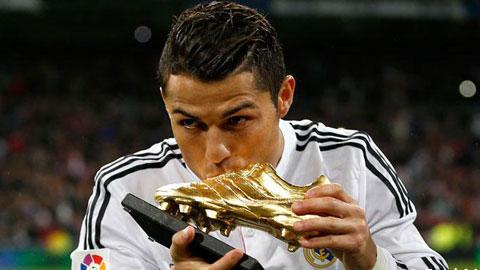 Ronaldo nhận Chiếc giày vàng châu Âu thứ 4 vào ngày mai (13/10)