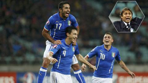 ĐT Italia giành vé dự EURO sớm 1 lượt: Chiến công của Conte
