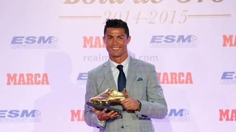 Ronaldo khoe 4 lần giành 'Chiếc giày vàng châu Âu'