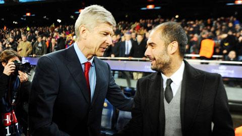 Wenger có nguy cơ bị Guardiola chiếm ghế