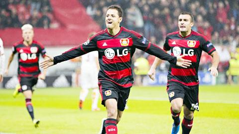 Chicharito lập cú đúp chỉ trong 20 phút cho Leverkusen: Đấy mới là Hạt đậu nhỏ