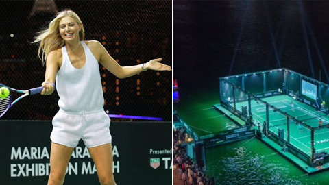 Sharapova rủ Michael Chang đấu tennis trên mặt nước