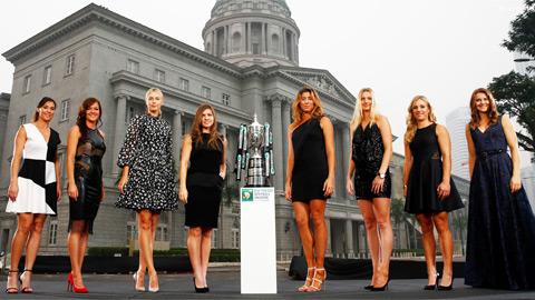 Sharapova và Halep chung bảng đấu tại WTA Finals