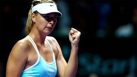 Thắng Halep, Sharapova rộng cửa vào bán kết WTA Finals