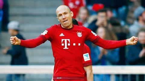 Robben tái xuất biến ảo hơn cùng Bayern