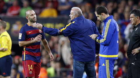 Barca kháng cáo thẻ đỏ của Mascherano