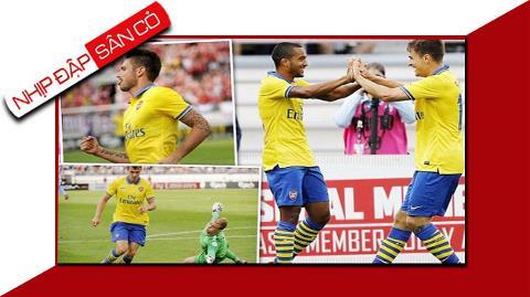 Arsenal đã có chiến thắng dễ dàng trước Man City trong trận giao hữu
