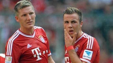 Schweinsteiger và Goetze đều dính chấn thương