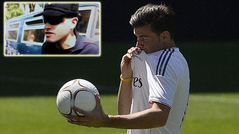 Anh chàng nhân viên an ninh (ảnh nhỏ) khá lúng túng khi được hỏi về Bale