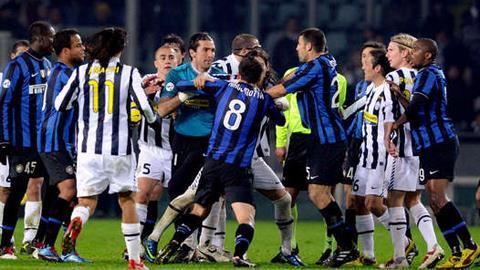 Trận derby d'Italia luôn diễn ra kịch tính và căng thẳng
